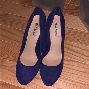 Shoes - Blue Steve Madden platform heels